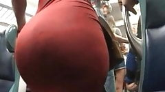 Amazing ass in red dress