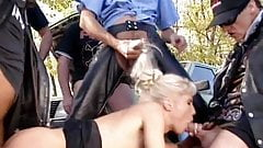 Bikers Fucked A Married Woman And Turned Her Into A Whore