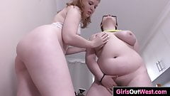 Chubby Panda and hairy Kate try anal toys