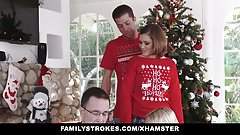 FamilyStrokes – Fucking My Sis During Holiday Christmas Pics