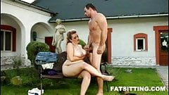 Hot BBW Kristy face sitting on her slave's face