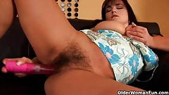 Mature soccer mom with hairy pussy