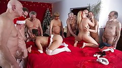 Old Young Orgy 9 Old Men 2 Teens hardcore Christmas sex