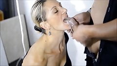 Sub hot milf lick balls suck and get cum on mouth