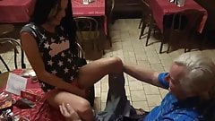teen lost a bet with a friend must fucked by old man in pub